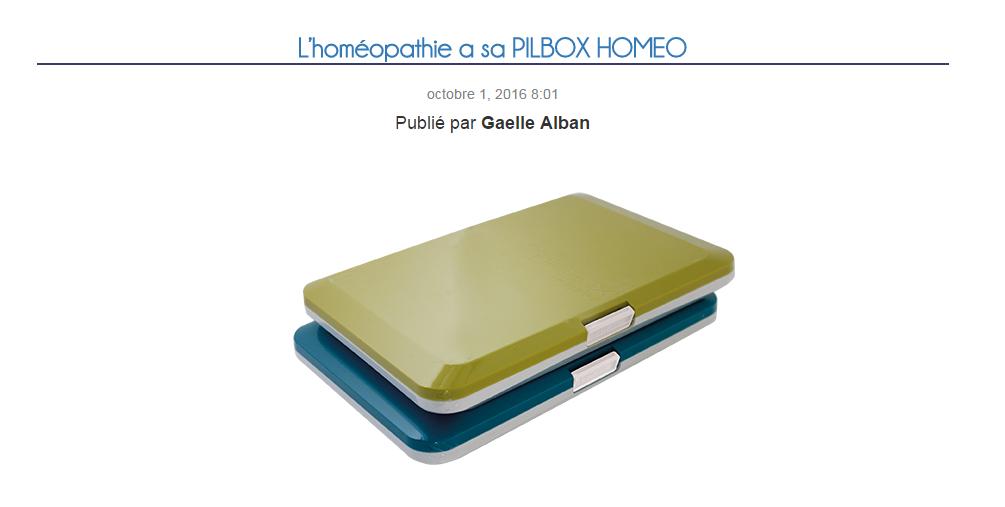 L'homéopathie a sa Pilbox Homéo