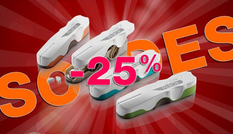 -25 % sur le Pilbox Cutter pour couper ses médicaments simplement !